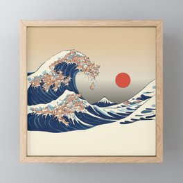 The Great Wave of Chihuahua Framed Mini Art Print