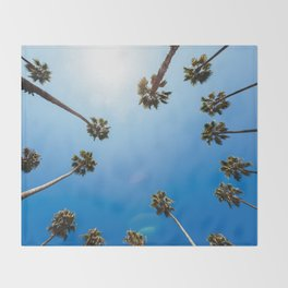 Palm Trees in Los Angeles Throw Blanket