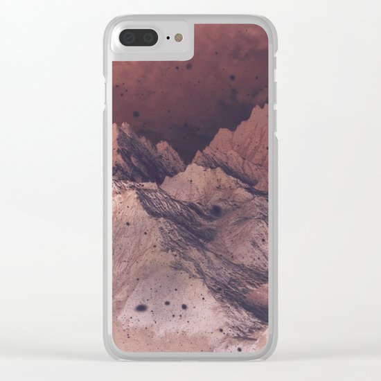 Romantic Mountains Clear iPhone Case
