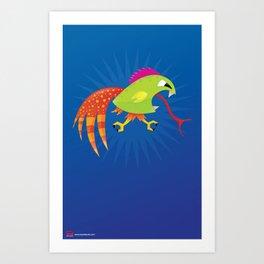 Punk Ass Chicken Runner. Art Print