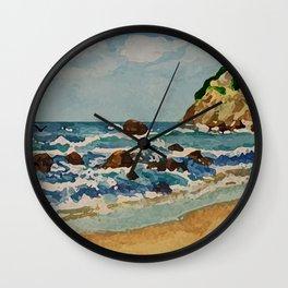 Block Island Beach Scene Wall Clock
