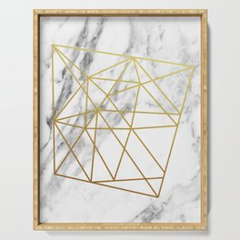 Gold geometric marble Serving Tray
