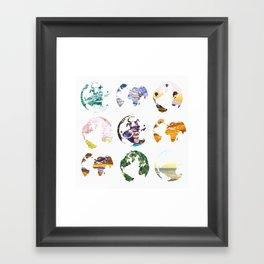 Globes Framed Art Print