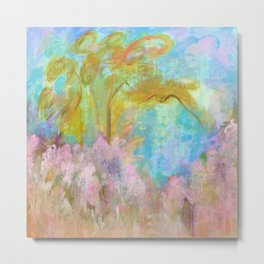As Beautiful As The Day Is Long, Abstract Landscape Painting Metal Print