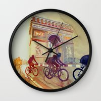 takmaj Wall Clocks featuring Tour de France by takmaj