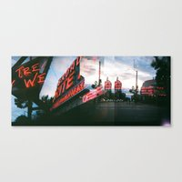 broadway Canvas Prints featuring Broadway by Lily Slater