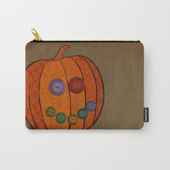 Patterned pumpkin  Carry-All Pouch