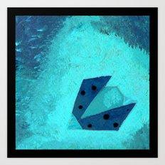 Ladybird Origami 3 Art Print