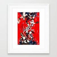 kill la kill Framed Art Prints featuring Kill la Kill by Mari