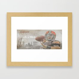 Johnny Football is a Bitch Framed Art Print