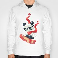 snowboarding Hoodies featuring Snowboarding by Freeminds
