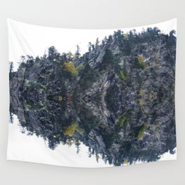 Mirrored landscape 4 pyrenees Wall Tapestry