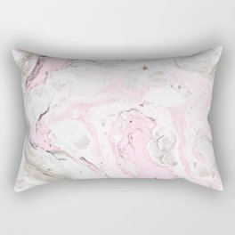 Pink and gray marble Rectangular Pillow