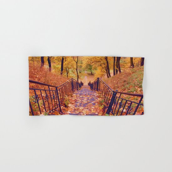 Stairs in the Fall Hand & Bath Towel