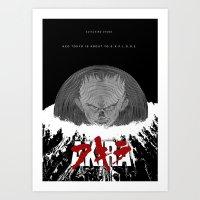 akira Art Prints featuring Akira by TheRandomFactory