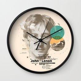 john lenon-imagine Wall Clock