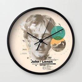 john lenon-imagine Wall Clock