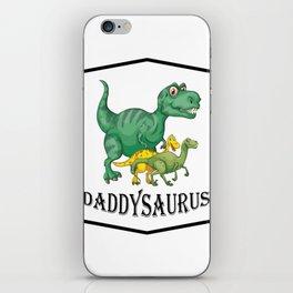 Dad Dinosaur Daddyasaur T-Rex Fathers Day Gift iPhone Skin