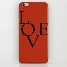 LOVE RED iPhone Skin