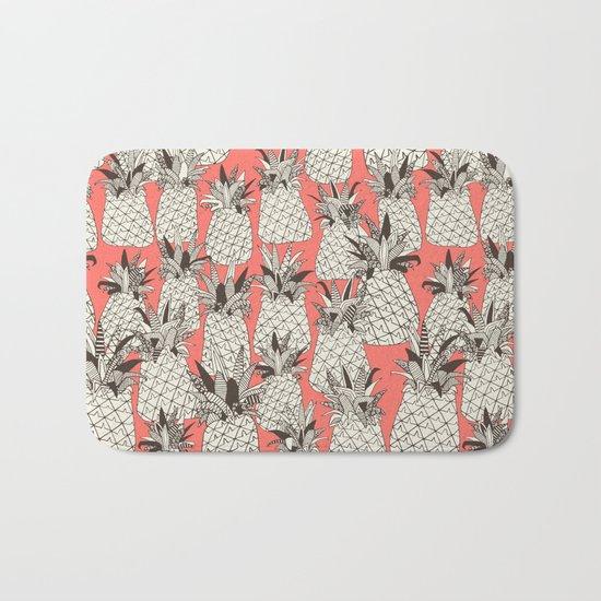 pineapple blush coral Bath Mat