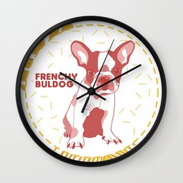 Frenchy Buldog Wall Clock