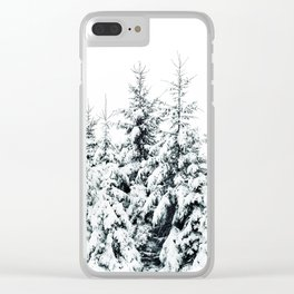 Snow Porn Clear iPhone Case