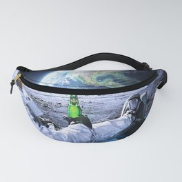Astronaut on the Moon with beer Fanny Pack