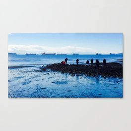 Ships on the Horizon Canvas Print