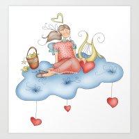 angel Art Prints featuring Angel by Catru