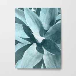 Agave Turquoise Metal Print