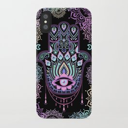 Pastel Hamsa amulet iPhone Case