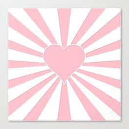 Pink Bubblegum Valentine Love Explosion Canvas Print