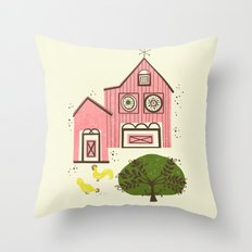 Farm House Pink Throw Pillow