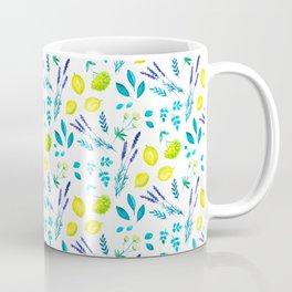 Lemon & lavender, mediterranean summer Coffee Mug