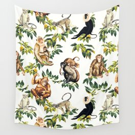Monkeys, orangutans and more Wall Tapestry