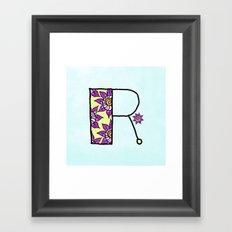 R r Framed Art Print
