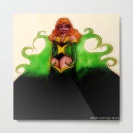 Maribelle the Queen in Green Metal Print