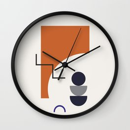 Abstract Shapes - Autumn Wall Clock
