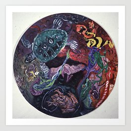 CIRCLE of REPTILES Art Print