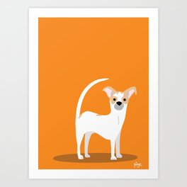 Orange Linus Art Print