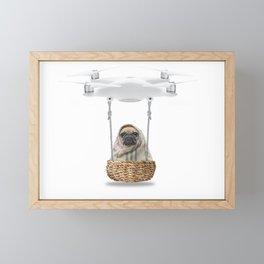 Pug Dog in a Drone Framed Mini Art Print