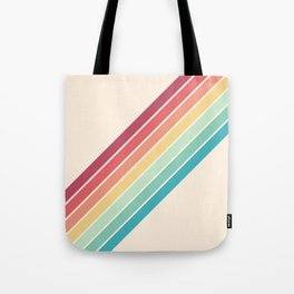 Classic 70s Style Retro Stripes - Penida Tote Bag