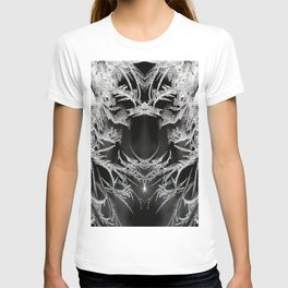 Ice Crystals In Black And White #decor #society6 #homedecor T-shirt