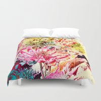 aelwen Duvet Covers featuring waterlily by clemm