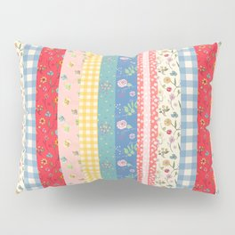 Happy patchwork stripe Pillow Sham