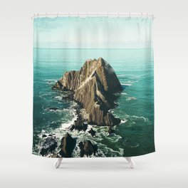 Island green sea Shower Curtain