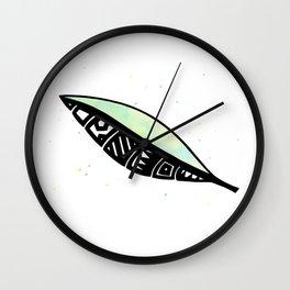 Polynesian Leaf Wall Clock