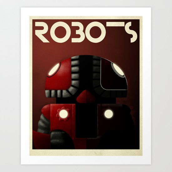 Robots - Bibop Art Print