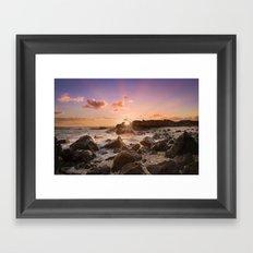 Splash of Sunset Framed Art Print
