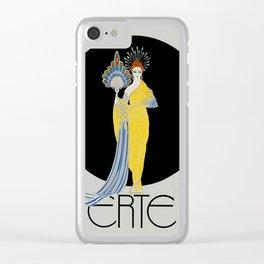 "Art Deco Design ""Aphrodite"" by Erte Clear iPhone Case"